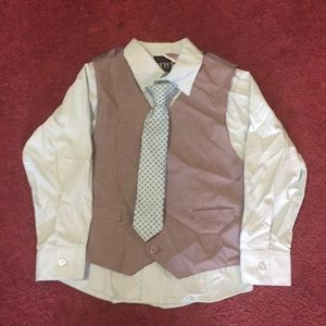 Boys vest and shirt w/tie